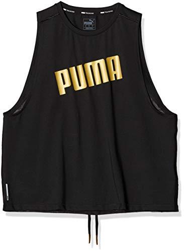 PUMA Metal Splash Adjustable Tank Camiseta, Mujer, Black, XL