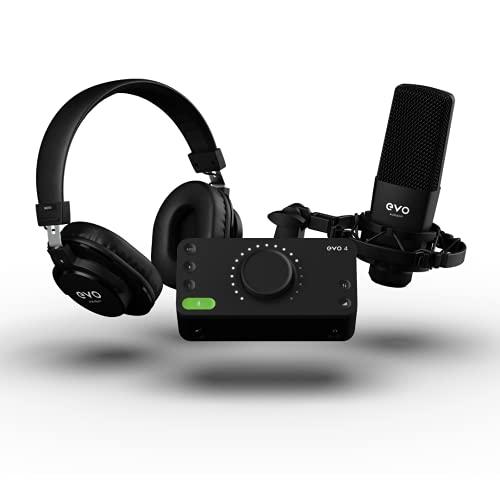 Audient EVO Start Recording Bundel (EVO 4 audio-interface, SR1 grootmembraan condensatormicrofoon, SR2000 gesloten…