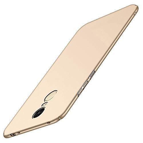 Funda Xiaomi Mi Mix 2S, Xiaomi Mi Mix 2S funda ultra fina funda protectora adecuada Shockproof antigolpes antigolpes antihuellas digital antiarañazos Hard Plastic Cover para Xiaomi Mi Mix 2S dorado M