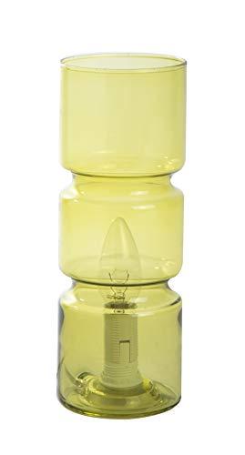 Lampe de chevet Biblo, lampe décorative verre, 40 W, jaune, ø 10 x H 14 cm