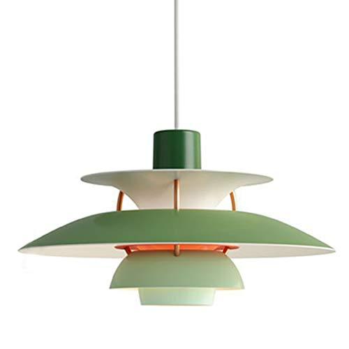 DSFHKUYB Lámpara Colgante Moderna Y Simple Luz Pendiente De Cabeza Individual Se Puede Instalar En El Dormitorio Estudio Salón Comedor,Verde,D30cm
