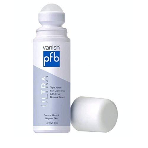 PFB Vanish Ultra with Chromabright & Shitake Mushroom, Triple Action Dark Spot Remover, Ingrown Hair & Razor Bump Stopper, Roll-On Skin Care Treatment, 93g – New Formula