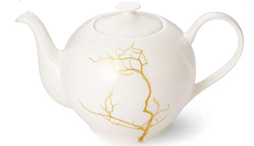 Dibbern Teekanne Fine Bone China Serie Golden Forest Rund 1,30 L