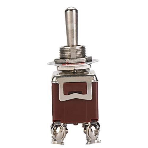 Interruptor de palanca, válvula mecánica, liviano, 6 pines, tamaño pequeño para 15A + 250Vac, 5 piezas, 12 mm, orificio de montaje, plástico + cobre