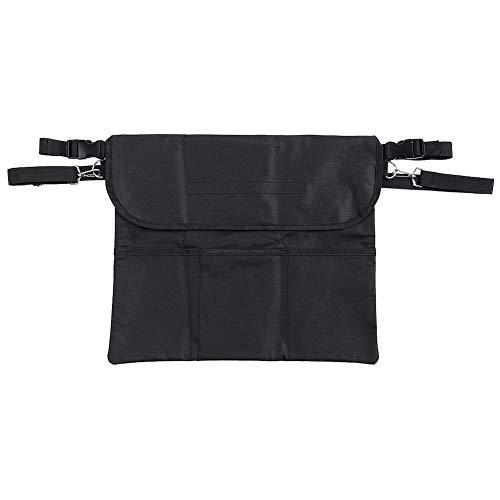 FILFEEL Organizador de Bolsa para reposabrazos de Silla de Ruedas, Organizador de Bolsa de Almacenamiento de Tela Oxford Resistente al Desgaste Negro para Silla de Ruedas (43x35.5cm)