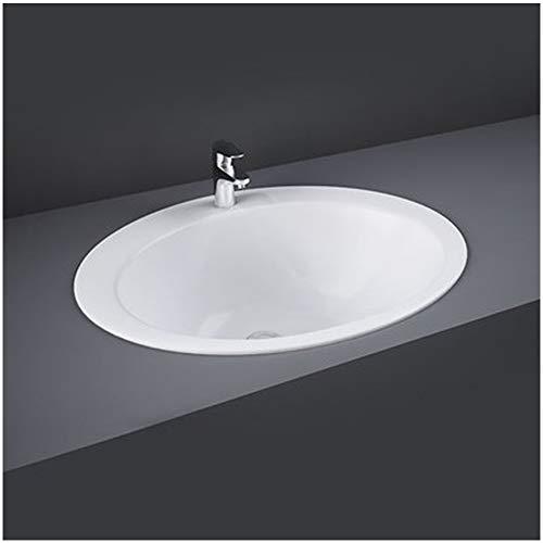 Lavandino da Incasso soprapiano - L.53 x P43.5 x H 22.5 cm - Forma Ovale con predisposizione per Batteria
