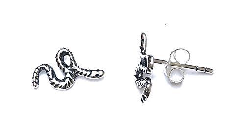 Ohrstecker, Sterling-Silber 925, kleine Kobra-Schlange