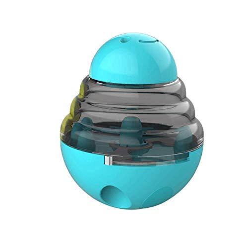 HAOSHUAI Interaktive Hundefutter Treat Ball-Bowl-Spielzeug Smarter Haustier-Spielwaren-Nahrungsmittelkugel Lebensmittel-Dispenser Hunde Katzen Spielen Training Tumbler Ball