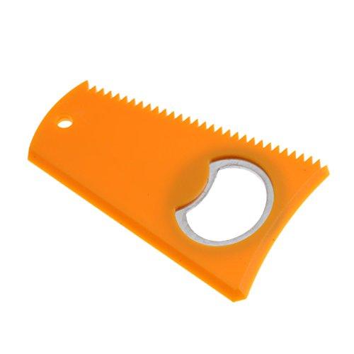 Milageto Quita-raspador de Cera del Peine de La Cera del Skimboard de La Tabla de Surf Que Practica Surf con El Abrebotellas - Amarillo