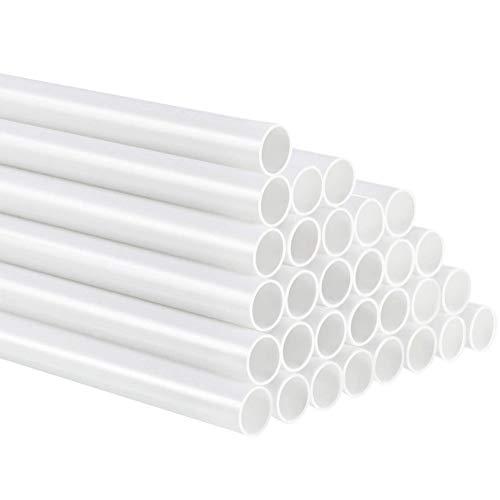 30 Piezas de Varillas de Plástico Blanco para Tartas, Varillas Reutilizables de Soporte para Tartas de 24 cm para la Construcción de Tartas en Niveles