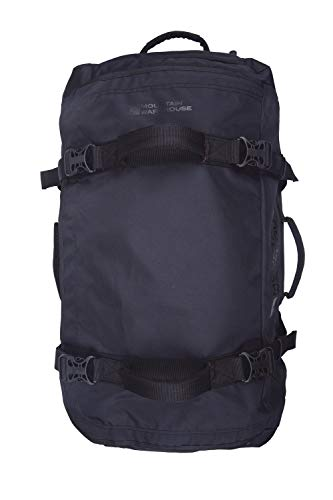 Mountain Warehouse Voyager 90L Wheelie Holdall - Organiser Pocket Duffle Bag - for Travelling Black