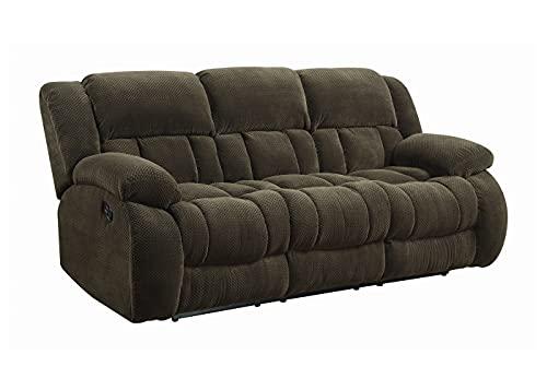 Coaster Home Furnishings Weissman Pillow Padded Motion Sofa Chocolate