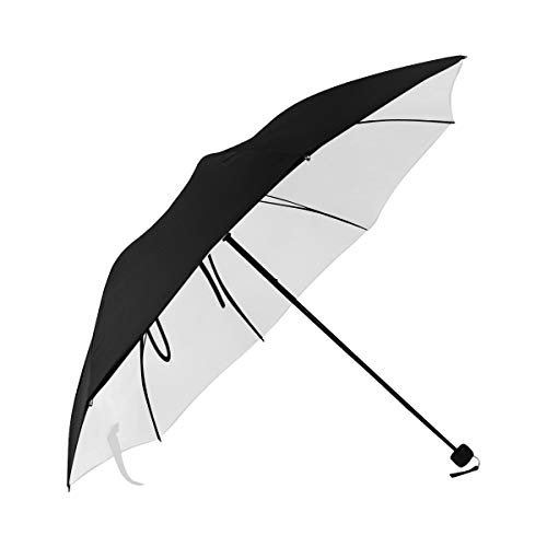 Mens Foldable Umbrella Continuous Line Drawing Luxury Painting Minimalist Underside Printing Large Foldable Umbrella Foldable Large Umbrella Girls Umbrella Stroller With 95% Uv Protection