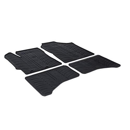 GledRing GL 0269 Set di tappetini in gomma per Toyota Yaris 5 porte ibrido più clip di fissaggio, profilo a T, 4 pezzi