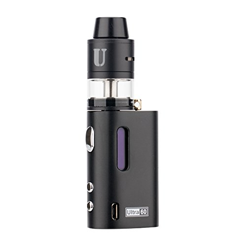 JOMO TECH E-Zigarette Ultra Lite 60 Box Mod Akkuträger E Zigaretten Set inkl. Sub Ohm OCC Coil Atomizer Einsteiger-Set Nikotinfreie Zigaretten Ohne E-Liquid für Einsteiger/Anfänger