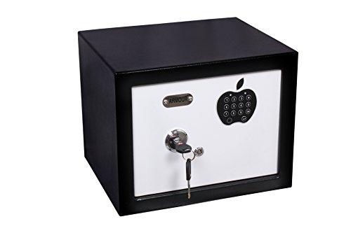 ARMOUR Nano Electronic + Mechanical Safe (12x9x9-inch, Black + White)