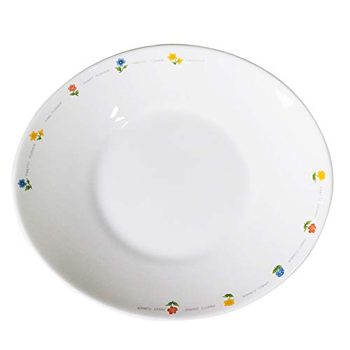 The Tableware Fiore Opal Tempered Glass Dinnerware Set of 4 (Oval Plate Large)