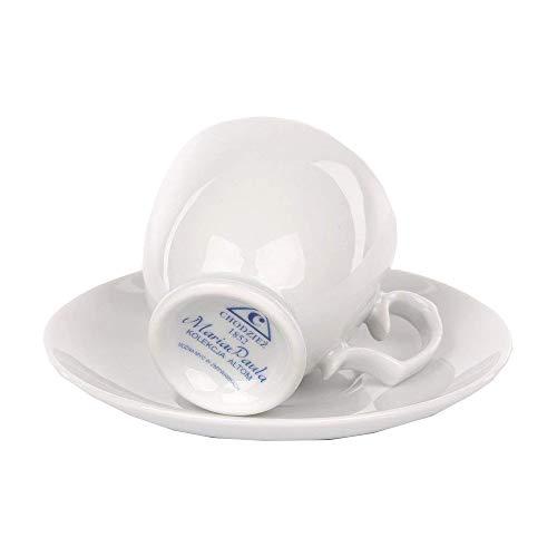 MariaPaula Kaffeeservice Tafelservice Espressotassen für 6 Personen Porzellan Chodziez Weiß