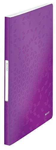 LEITZ WOW listino fogli fissi - 40 buste - dim. 31 x 23 cm - Viola metallizzato - 46320162