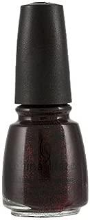 China Glaze Nail Lacquer With Hardeners - 14 Ml, Lubu Heels - Black