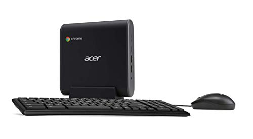 Acer Chromebox CXI3-UA91 Mini PC, Intel Celeron 3867U Processor 1.8GHz, 4GB DDR4 -Memory, 128GB M.2 SSD, 802.11ac Wi-Fi 5, USB Type-C, Chrome OS, Keyboard and -Mouse Included