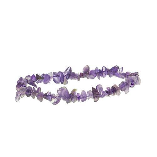 Garaulion Bracelet Pierre Naturelle Femme/Homme,Améthyste Bijoux Perles Idée Cadeau Anniversaire Maman (Améthysthe)