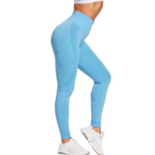 Estire y seque rápidamente Sus Pantalones de Yoga para Mujer, Cintura Alta, Cadera, Fitness, Correr, Pantalones Deportivos, Leggings Push-up HM