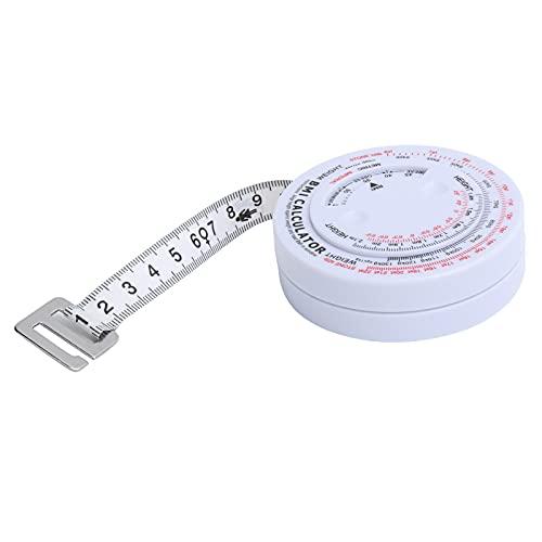 Cinta BMI de resistencia a la corrosión de plástico y PVC, resistencia a altas temperaturas, calculadora de pérdida de peso de 150 cm / 59,1 pulgadas, para medir la forma del cuerpo para la