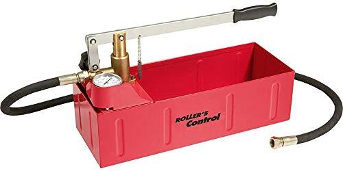 Prüfpumpe / Hand-Druckprüfpumpe Control | + Manometer, 1,5m Hochdruckschlauch, Überprüfung in der Sanitär-, Heizungs- und Sprinklerinstallation | Prüf- und Druckbereich bis 60 bar / 6 MPa / 870 psi
