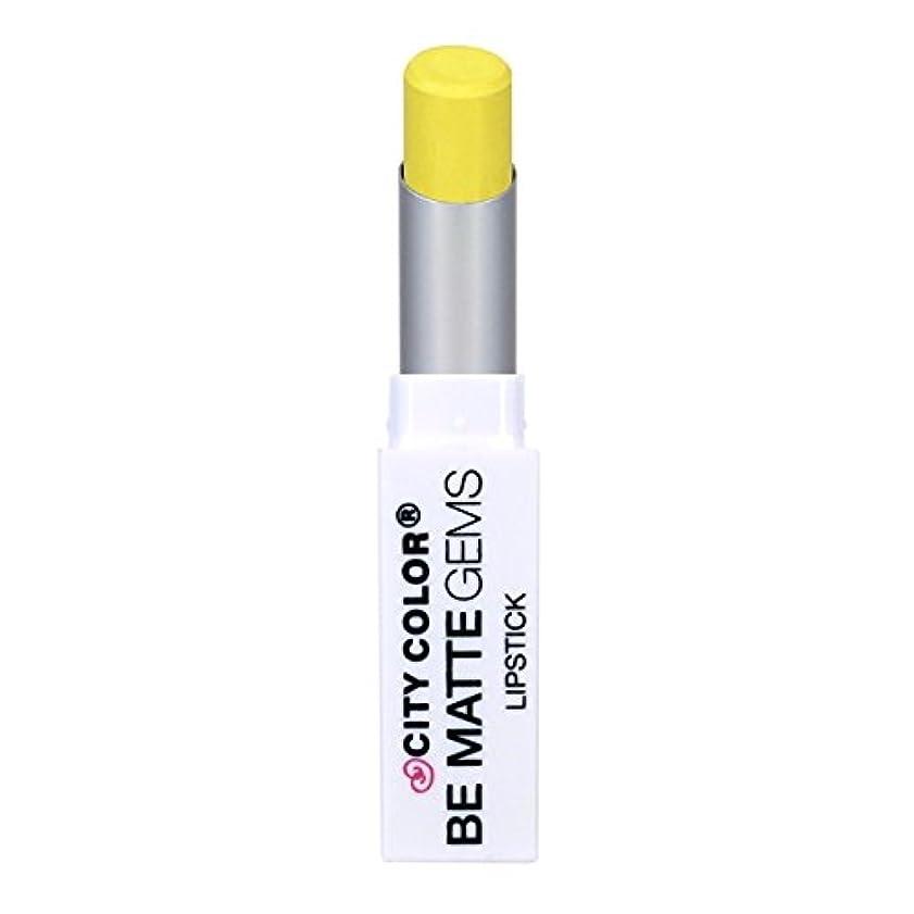 性差別電気技師記述する(3 Pack) CITY COLOR Be Matte Gems Lipstick - Citrine (並行輸入品)