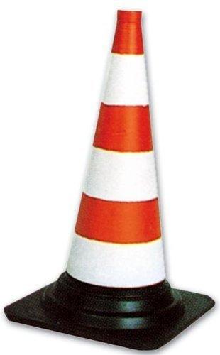 Cono Spartitraffico Segnaletico in Pvc Altezza 50 cm Colore Bianco-Rosso Maurer