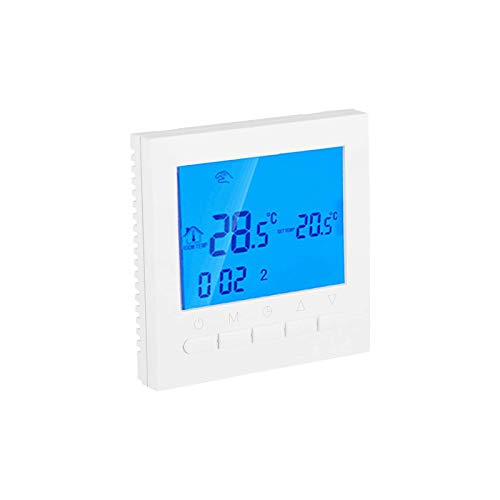 WiFi Digital Programmble Thermostat,LCD Intelligent Home Heating Control,Winter Wireless Temperature Controller with Time Display Auto Calibration and Anti-Freezing Function
