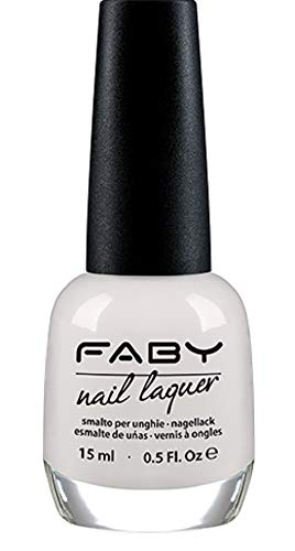 FABY Vernis à ongles Optical White. LCS100 15 ml