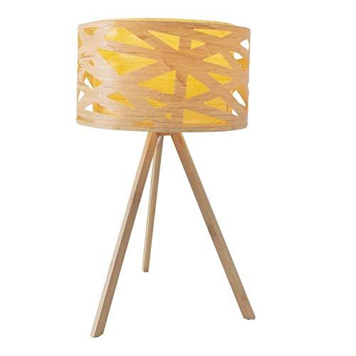 Näve Lámpara de mesa 'Finja', de plástico, bambú, E14, 40 W