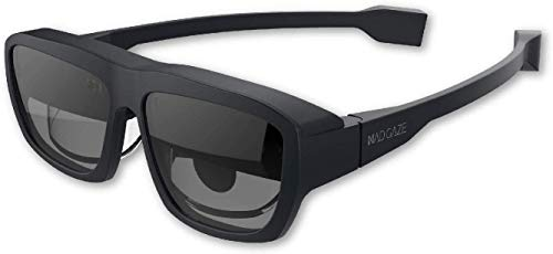 """MAD Gaze Glow Plus - AR MR Binocular Smart Glasses   53° FOV   118"""" Virtual Screen at 1080P HD   Wearable Display   Perfect for Gaming and Turn it into Your Personal Cinema (Midnight)"""