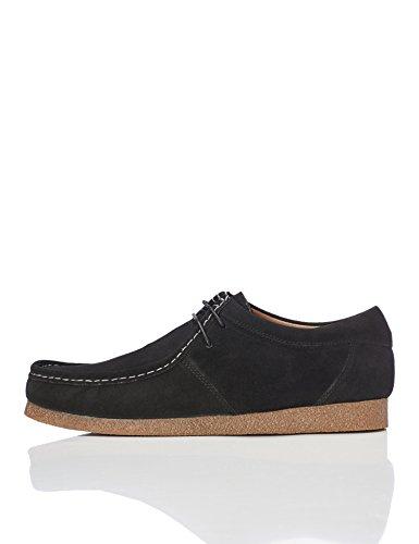 Marca Amazon - find. Zapato de Ante estilo Hombre, Negro (Black), 47 EU