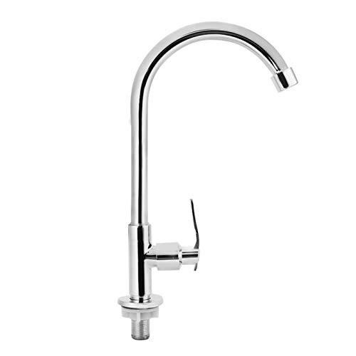 Household Faucet-G1/2 Pulgadas Fregadero de Cocina para el hogar Agua fría Rociador de Grifo de Cobre Giratorio de 360 °