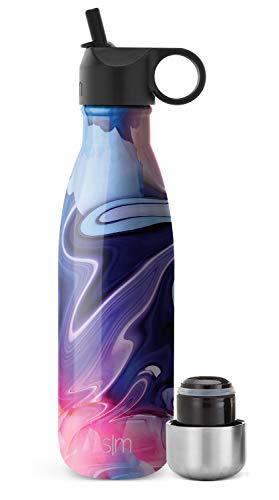 Simple Modern Apex Borraccia Termica Con Cannuccia Riutilizzabile e Coperchio Extra - Borracce Bottiglia Acqua Termiche 350/470/590/710ml, Senza BPA, Acciaio Inox a Tenuta Stagna per Bambini o Adultos
