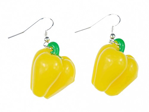 Paprika Miniblings suspensión de los pendientes pimientos dulces cocinero de la salud amarillo