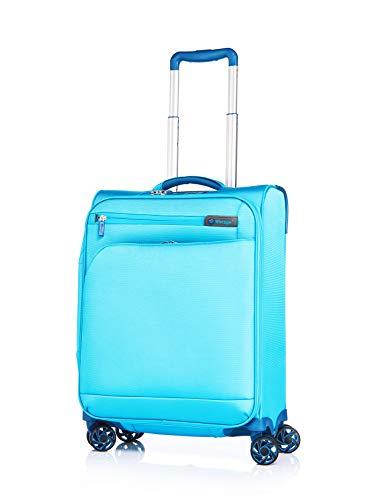 Verage Visionary Reisekoffer Handgepäck | 4 Rollen Stoff Trolley mit TSA-Schloss | Petrol, S-(19.5