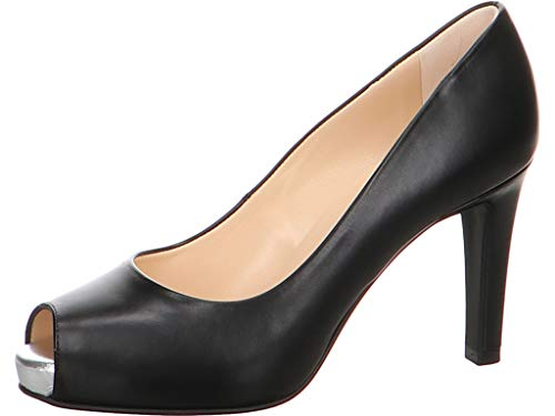 Peter Kaiser Damen Pumps Giulia, Frauen Peeptoe Pumps, Damen Frauen weibliche Lady Ladies feminin elegant Women's Women Woman,SCHWARZ,41 EU / 7 UK