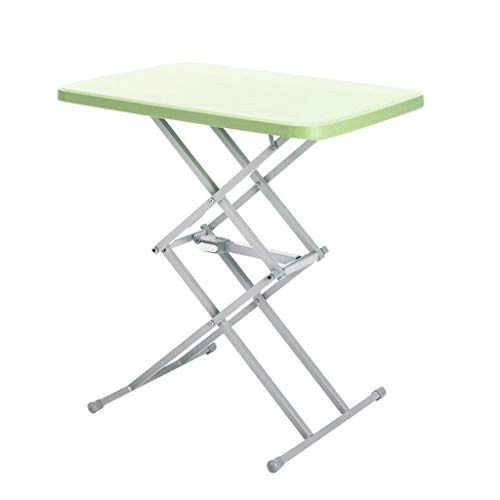 Folding Laptop Tabel ontbijt met Bed Pallets, verstelbare Foldable Met Flip Top en benen Computer Desk Stand (Color : Green)