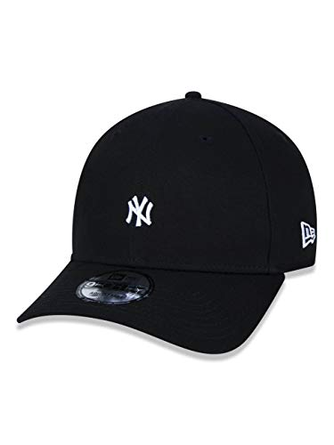 BONE 9FORTY ABA CURVA AJUSTAVEL MLB NEW YORK YANKEES MINI LOGO ABA CURVA SNAPBACK PRETO NEW ERA