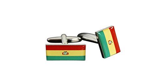 Flaggenfritze® Manschettenknöpfe Fahne/Flagge Bolivien