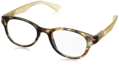 Peepers by PeeperSpecs Show Stopper Rectangular Reading Glasses, Tortoise/Tan, 45 mm + 2