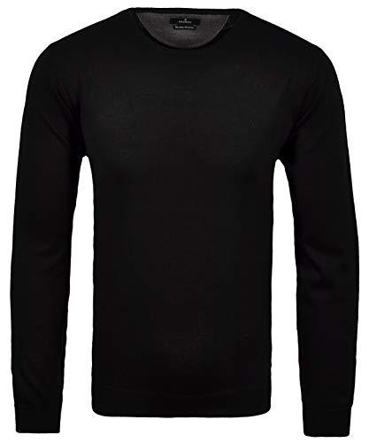 Ragman Herren Rundhals-Pullover Merino,Gr: 3XL, Farbe: Schwarz