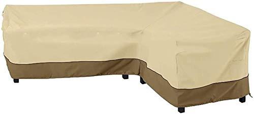 Objektschutzhülle Patio Sofa-Möbel Couch-Schutz mit Wasserdichtes anDustproof for Moving oder Sonnenschutz L-Form-Essen im Freien Patio Set-Schutz Großen, rechts