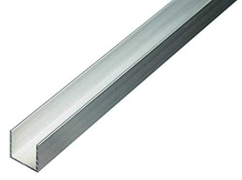 GAH-Alberts 474485 Perfil en U, Aluminio, 1000 x 20 x 20 mm
