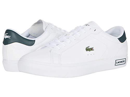 Lacoste Women's POWERCOURT 0520 1 SFA Sneaker, White/Dark Green 5 M US