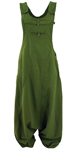 Guru-Shop Latzhose Aladinhose Haremshose Pluderhose Pumphose, Damen, Olive, Baumwolle, Size:M (38), Pluderhosen, Aladinhosen Alternative Bekleidung